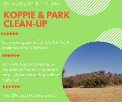 Koppie Cleanup – 24th August 2019